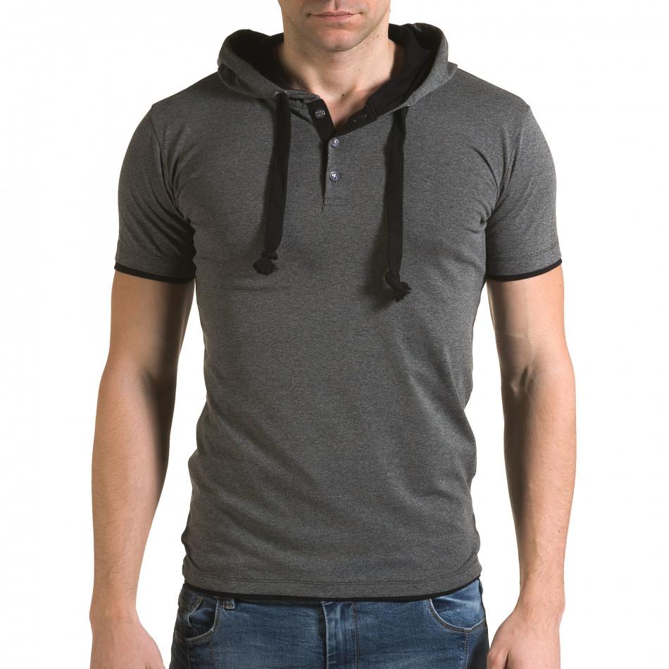 Tricou bărbați Lagos gri il120216-58