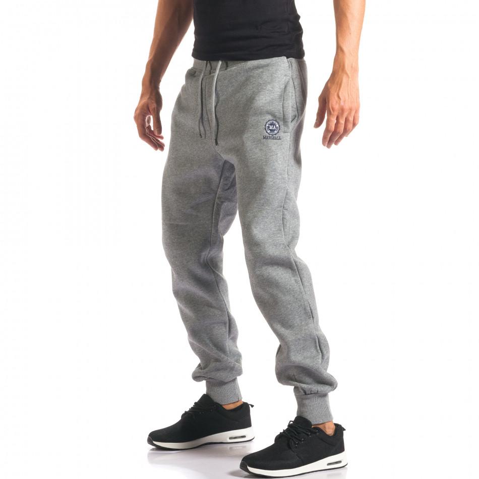 Pantaloni sport bărbați Marshall gri it160816-19