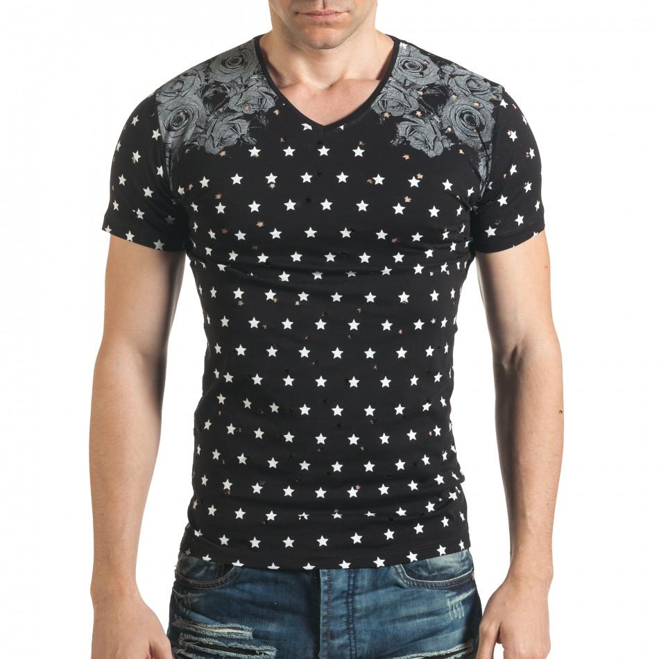 Tricou bărbați Lagos negru il140416-59
