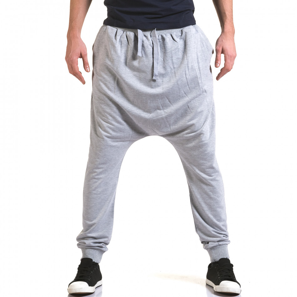 Pantaloni baggy bărbați Dress&GO gri it090216-34
