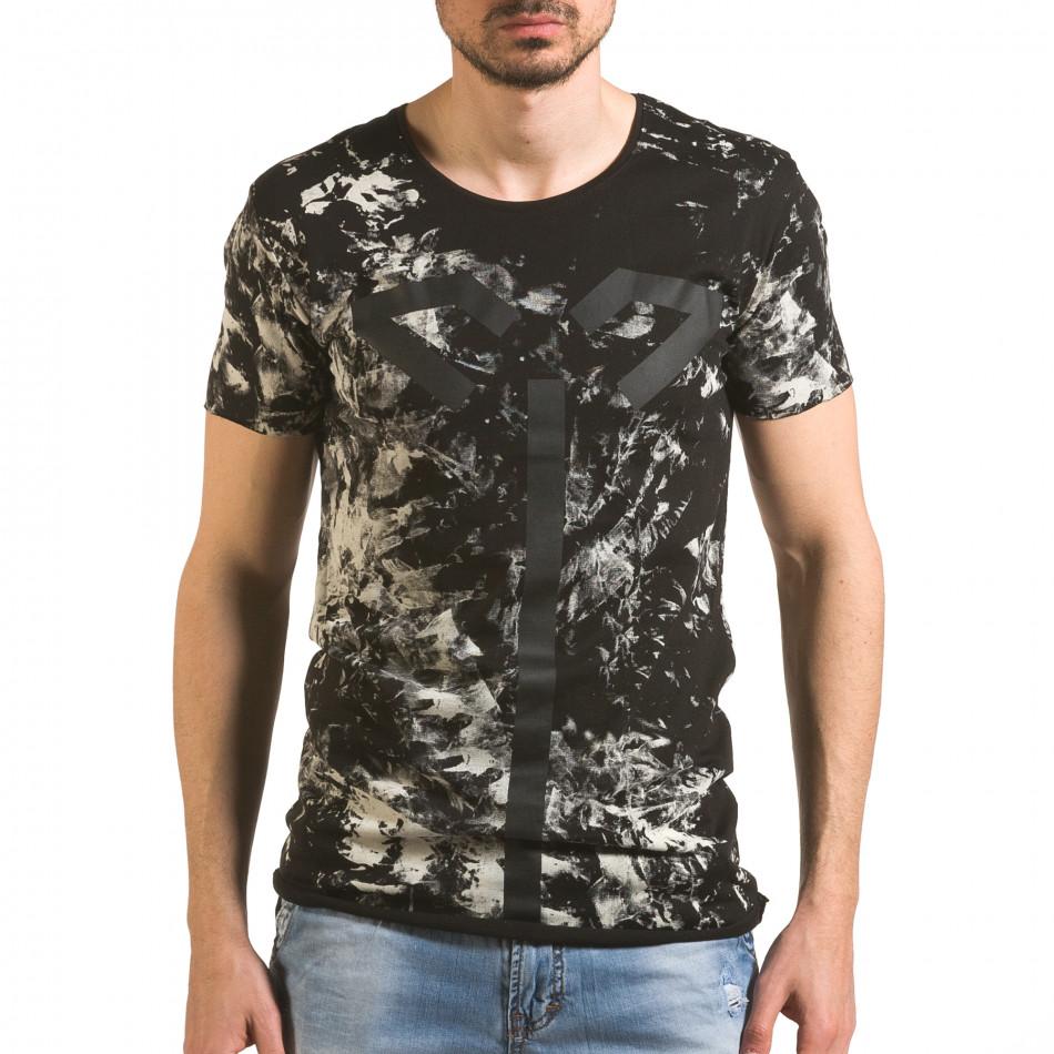 Tricou bărbați 2Y Premium negru tsf060416-2
