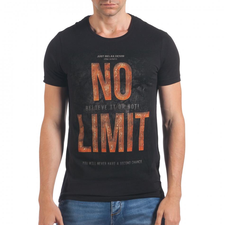 Tricou bărbați Millionaire negru il060616-65