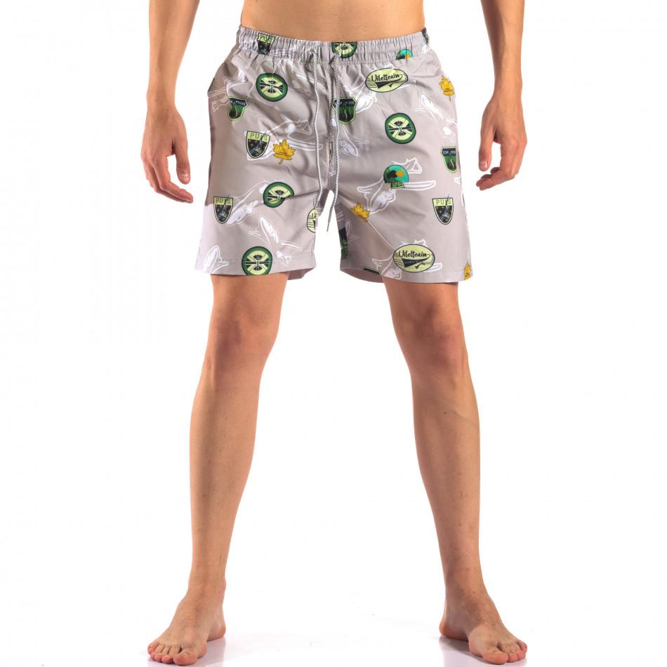 Costume de baie bărbați Austar Jeans gri it150616-23