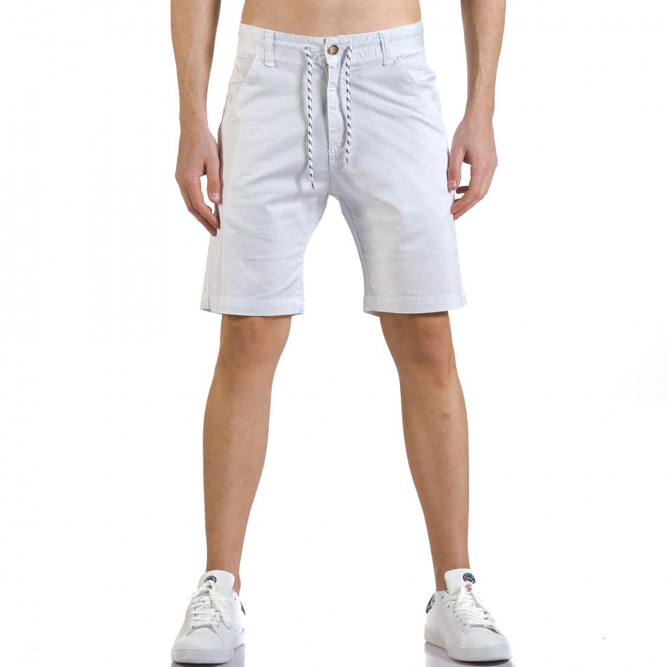 Pantaloni scurți bărbați Marshall albi it110316-37