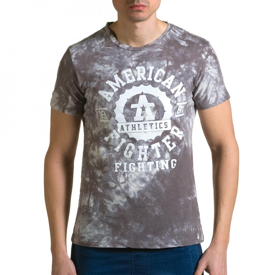 Tricou bărbați P2P gri ca190116-45