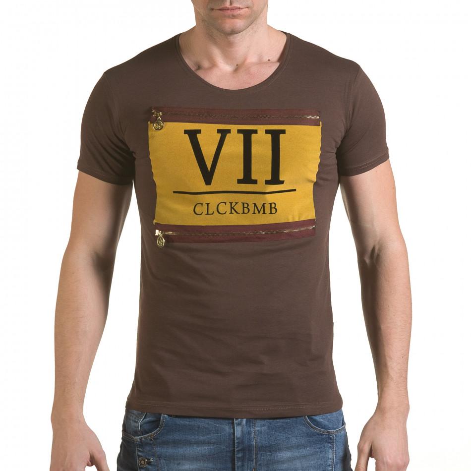 Tricou bărbați Click Bomb maro il170216-85