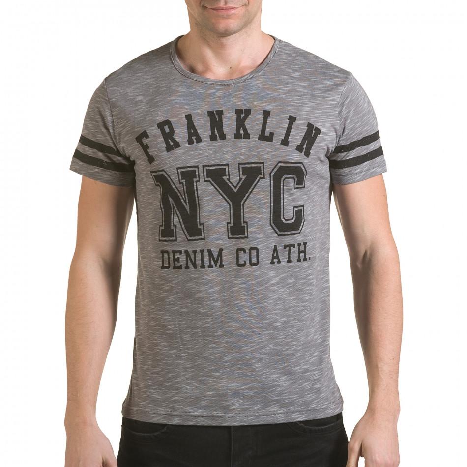 Tricou bărbați Franklin gri il170216-4