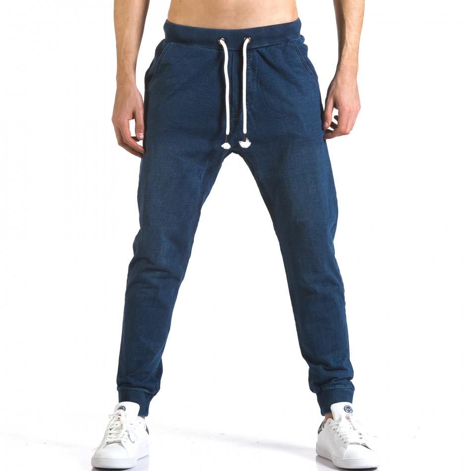 Pantaloni baggy bărbați Enos albaștri it090216-57