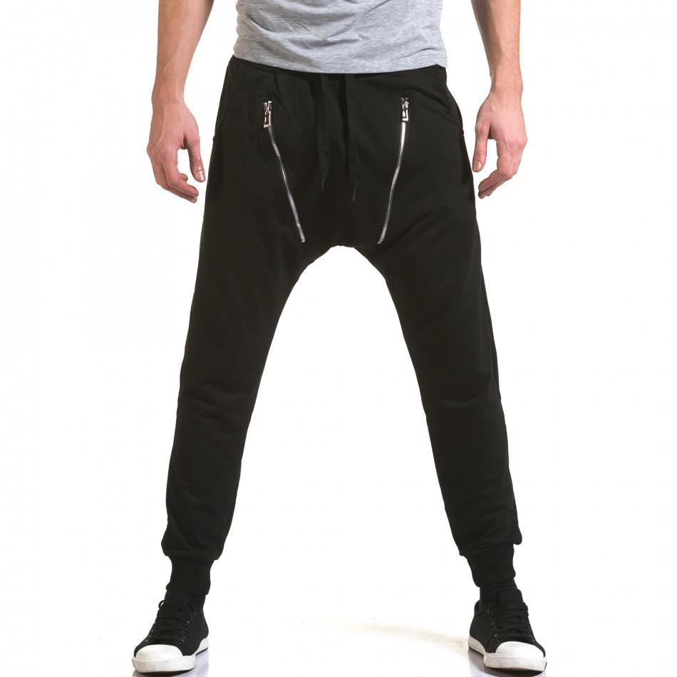 Pantaloni baggy bărbați Belmode negri it090216-46