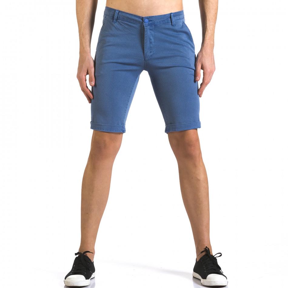 Pantaloni scurți bărbați Bruno Leoni albaștri it110316-46