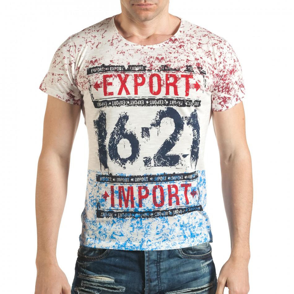 Tricou bărbați Lagos alb il140416-61