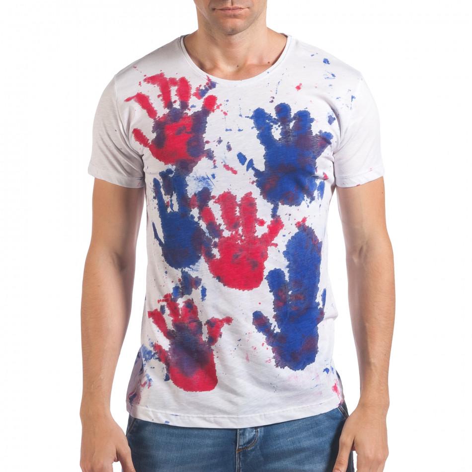 Tricou bărbați Lagos alb il060616-49
