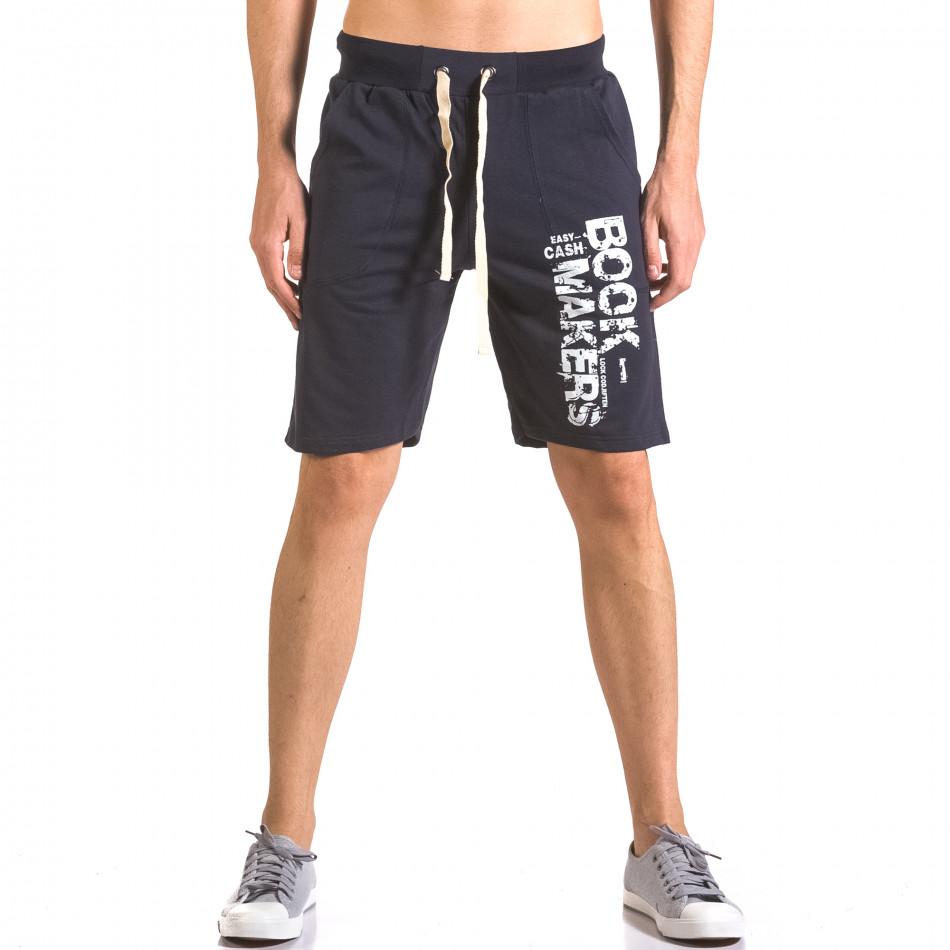 Pantaloni scurți bărbați Me & You albaștri ca050416-40