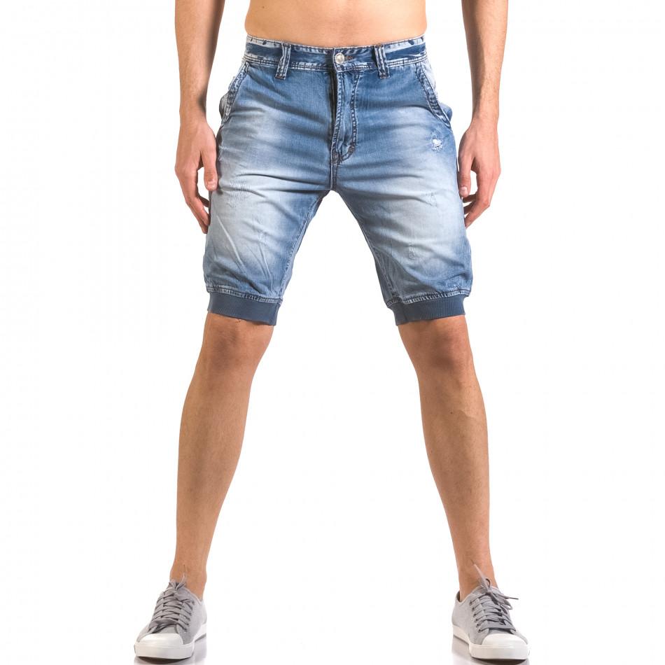 Blugi scurți bărbați Always Jeans albaștri ca050416-68