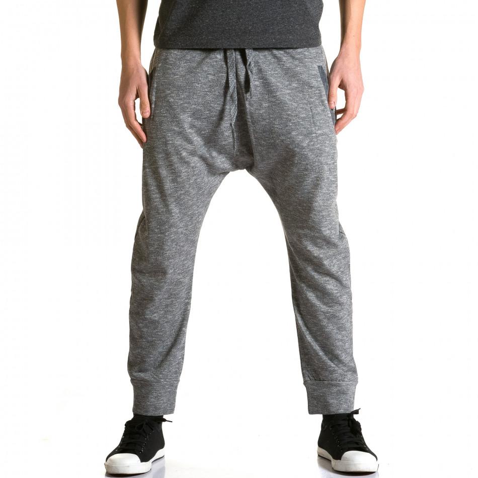Pantaloni baggy bărbați Max & Jenny gri ca190116-22