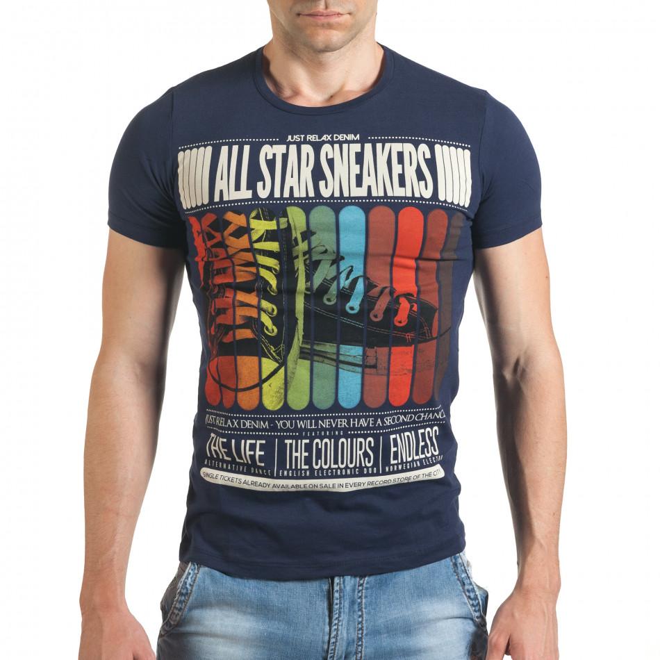 Tricou bărbați Just Relax albastru il140416-20