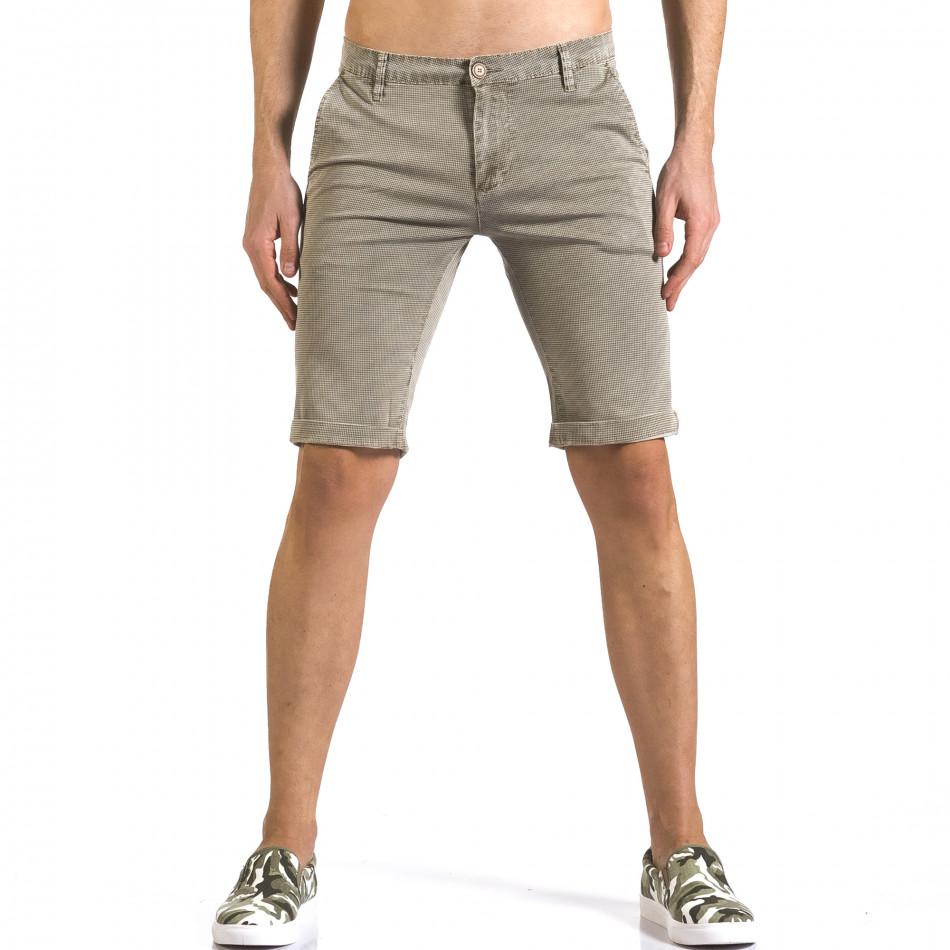 Pantaloni scurți bărbați Bruno Leoni bej it110316-48