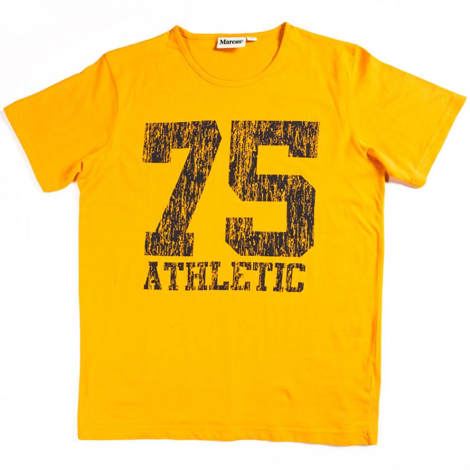 Tricou bărbați Marcus galben 070213-5