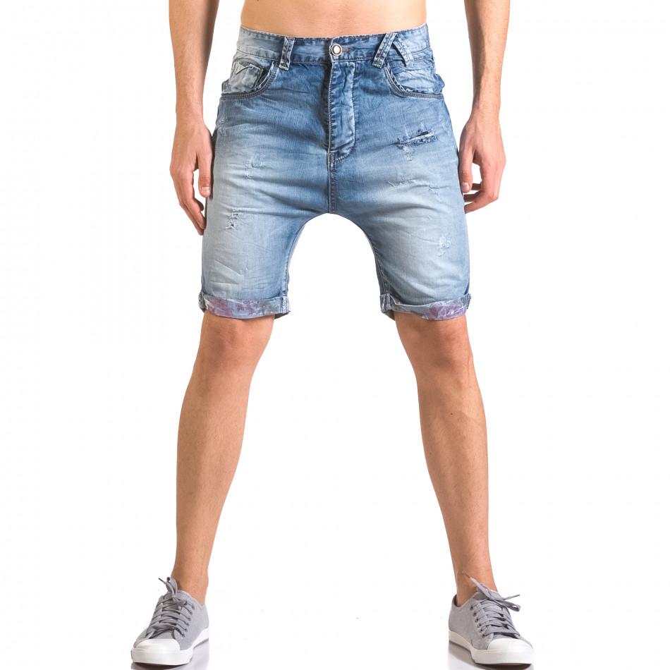 Blugi scurți bărbați Always Jeans albaștri ca050416-69