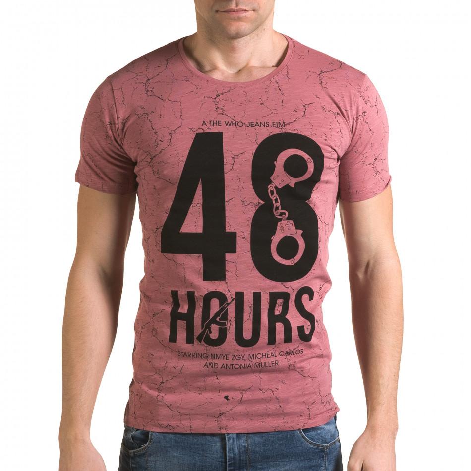 Tricou bărbați Lagos roz il120216-6