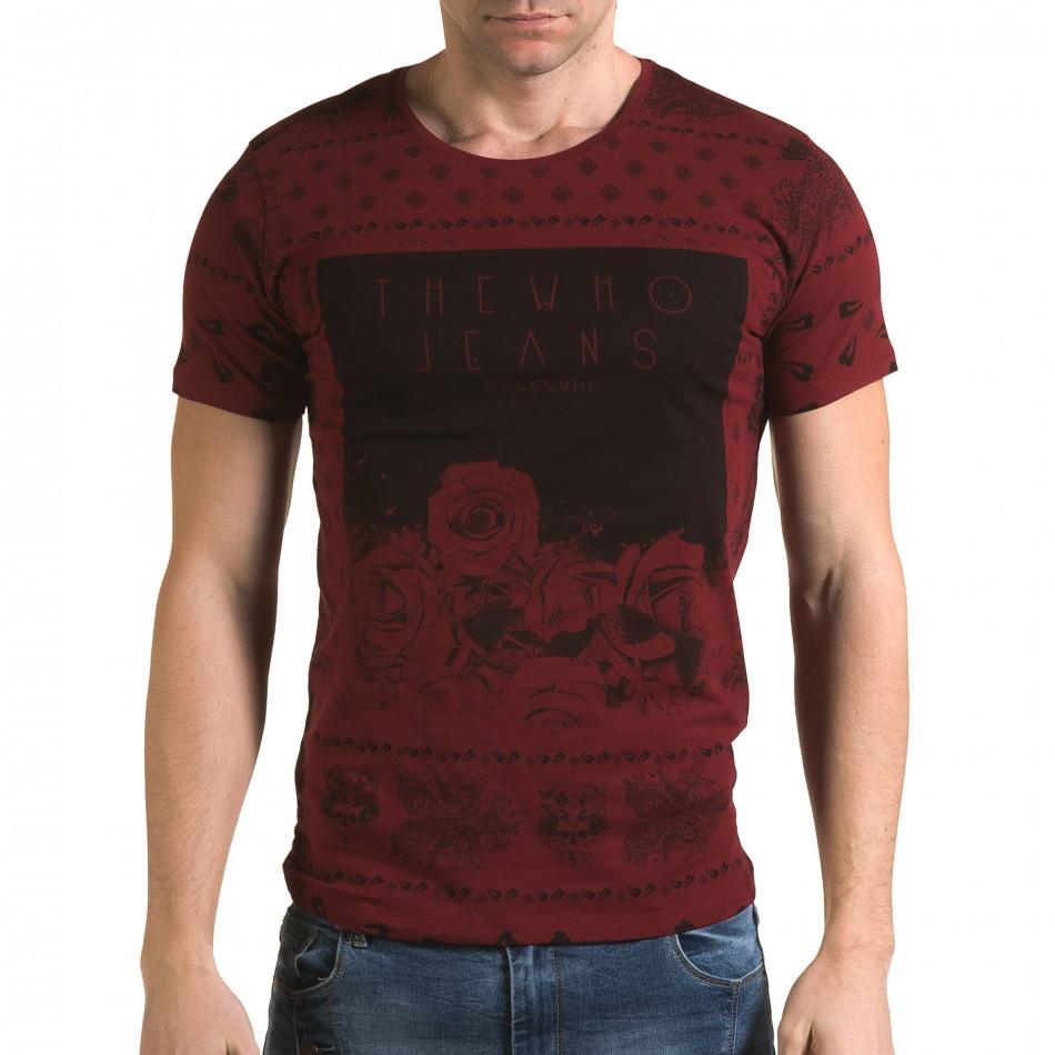 Tricou bărbați Lagos roșu il120216-53