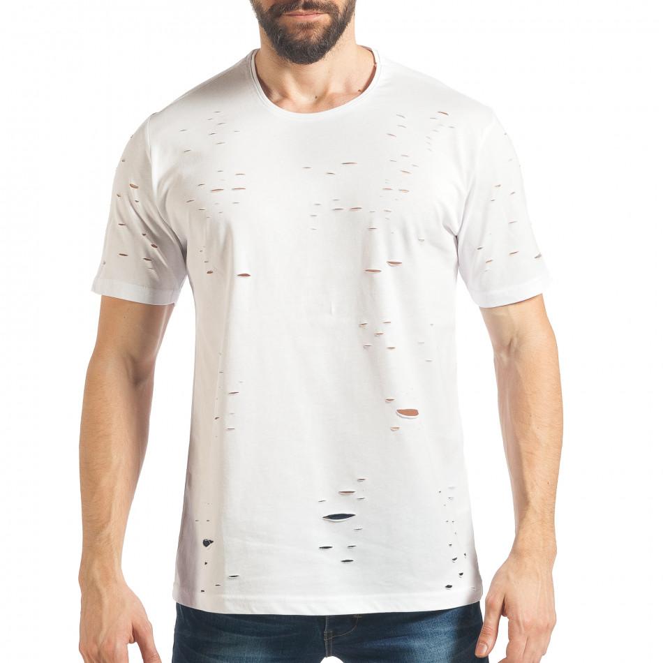 Tricou bărbați Black Island alb tsf020218-30