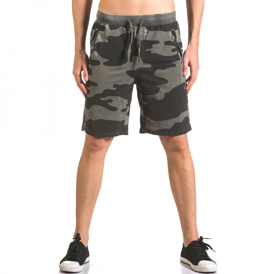 Pantaloni scurți bărbați Top Star camuflaj ca050416-46