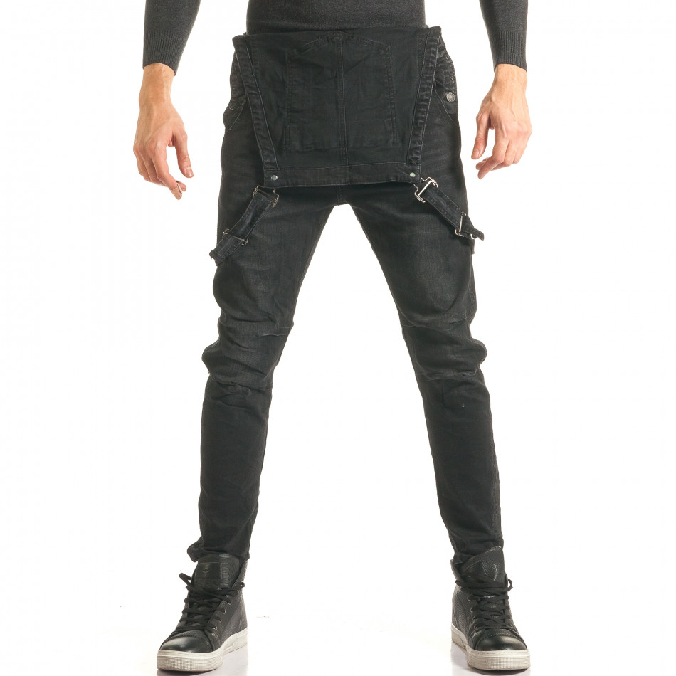 Salopetă de blugi bărbați Always Jeans negri it181116-62
