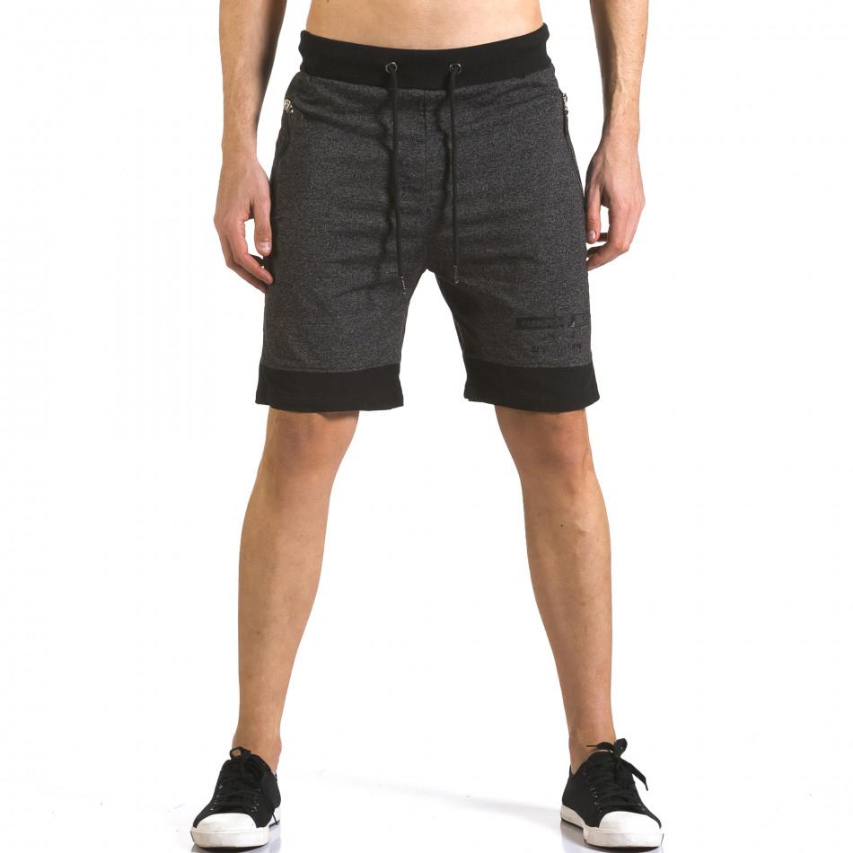 Pantaloni scurți bărbați Furia Rossa negri it110316-78