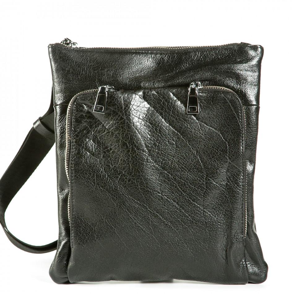 Geanta de umar Fashionmix neagră bărbați 1236-black