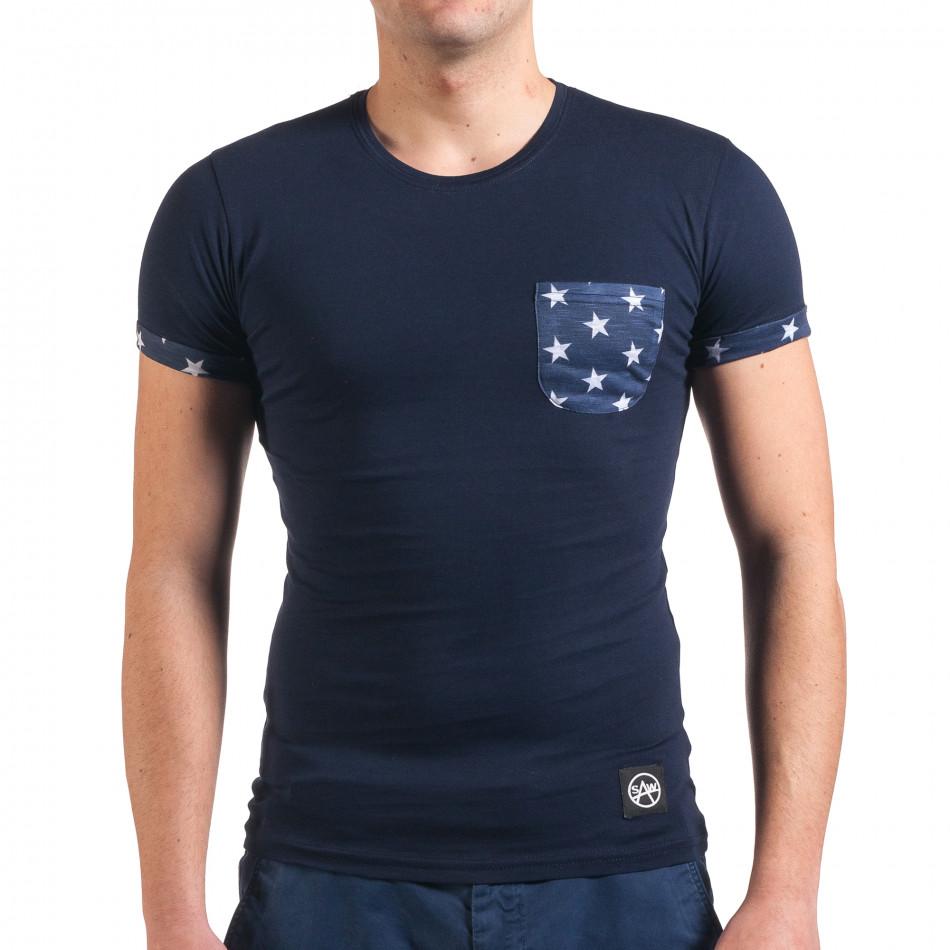 Tricou bărbați SAW albastru il010416-2