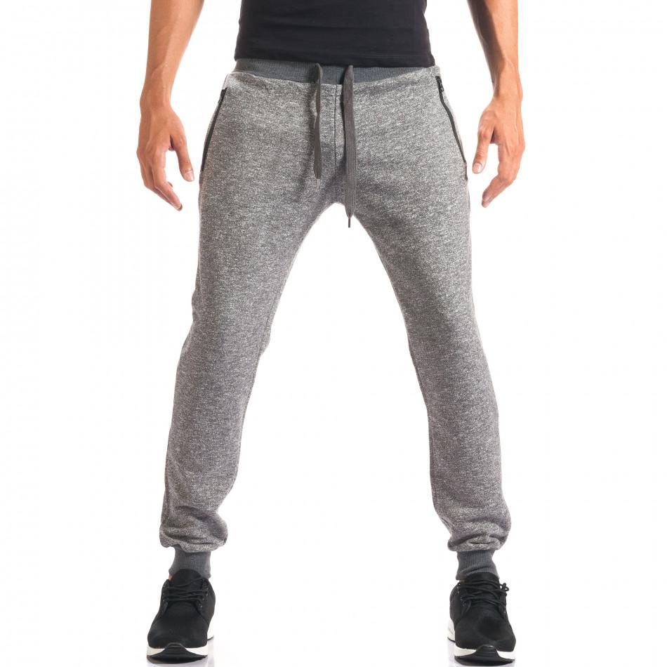 Pantaloni sport bărbați New Mentality gri it160816-26