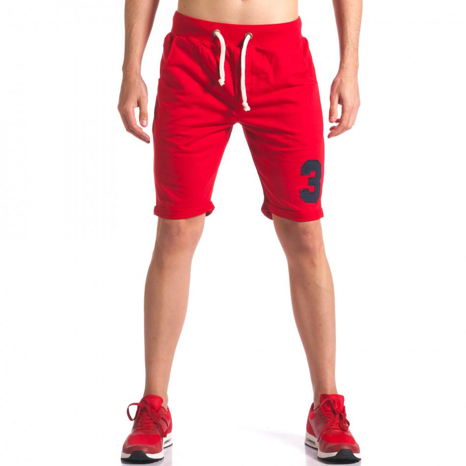 Pantaloni scurți bărbați New Men roșii it260416-22