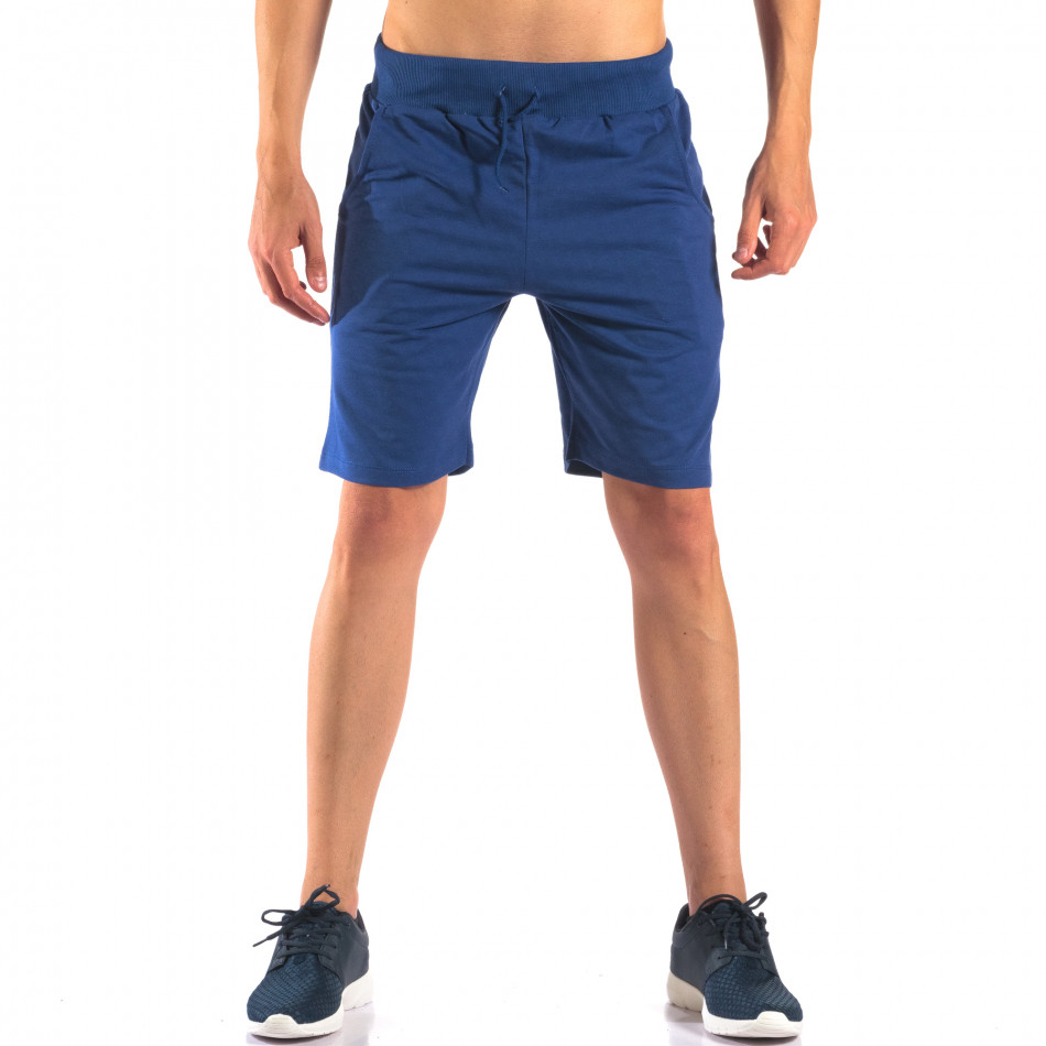 Pantaloni scurți bărbați Social Network albaștri it160616-7
