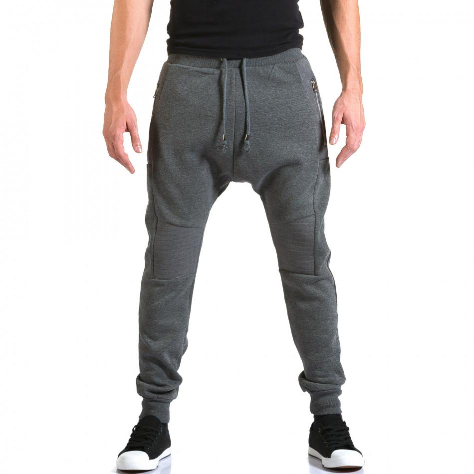Pantaloni baggy bărbați New Star gri it211015-55