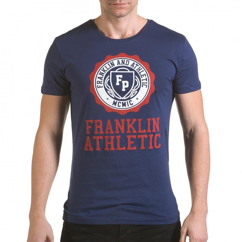 Tricou bărbați Franklin albastru il170216-6