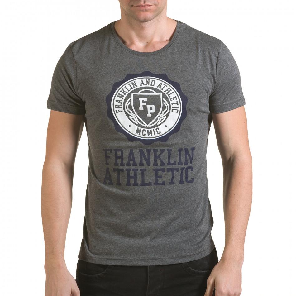 Tricou bărbați Franklin gri il170216-7