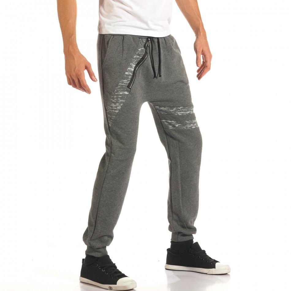 Pantaloni baggy bărbați Charman gri it191016-14