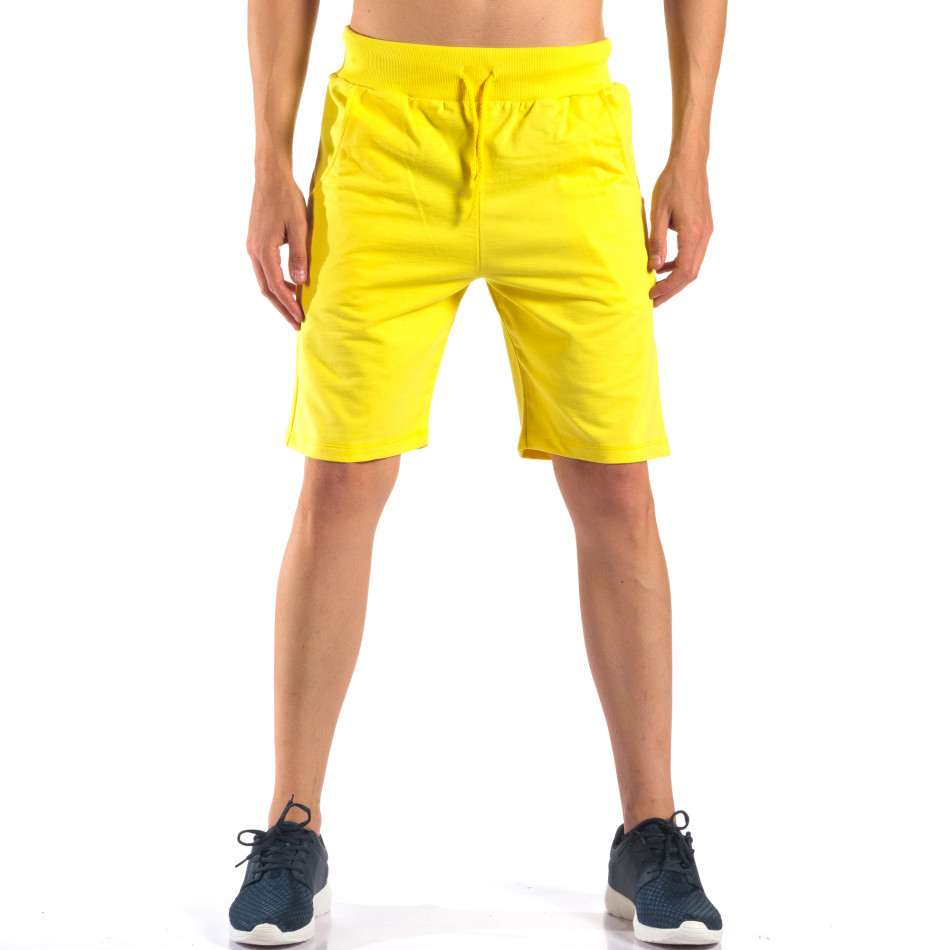 Pantaloni scurți bărbați Social Network galbeni it160616-10