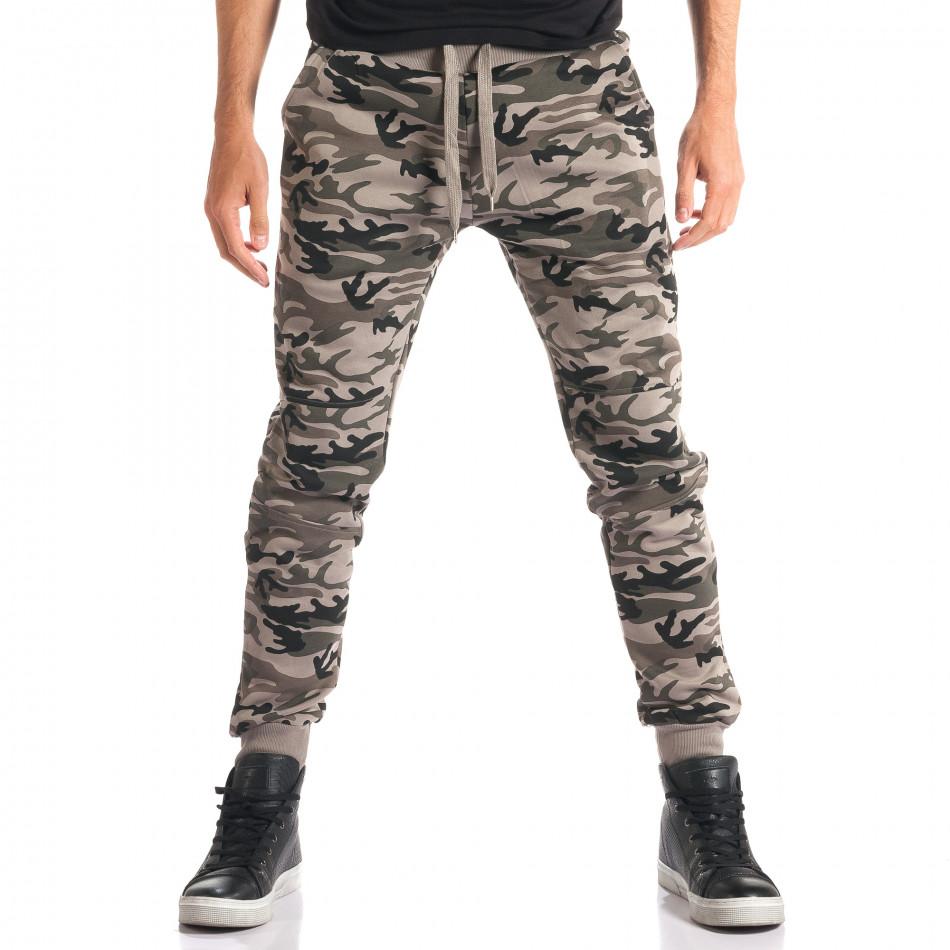 Pantaloni bărbați New Mentality camuflaj ca280916-9