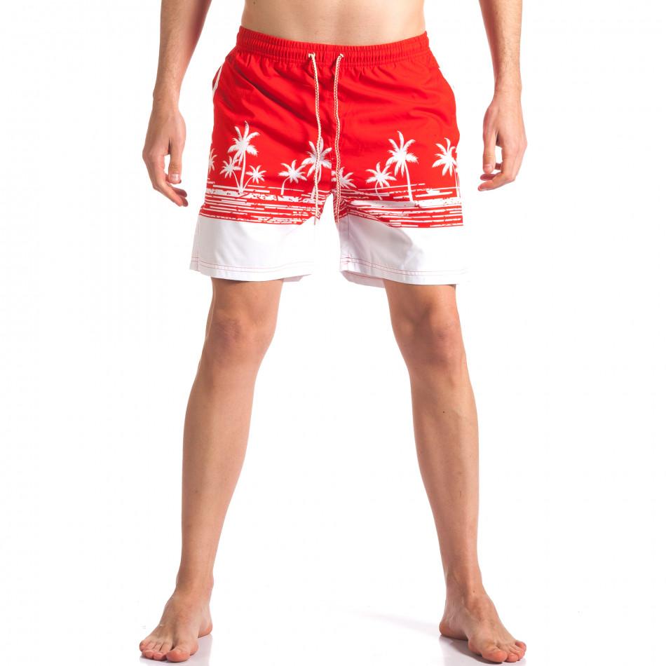 Costume de baie bărbați Austar Jeans roșu it250416-39