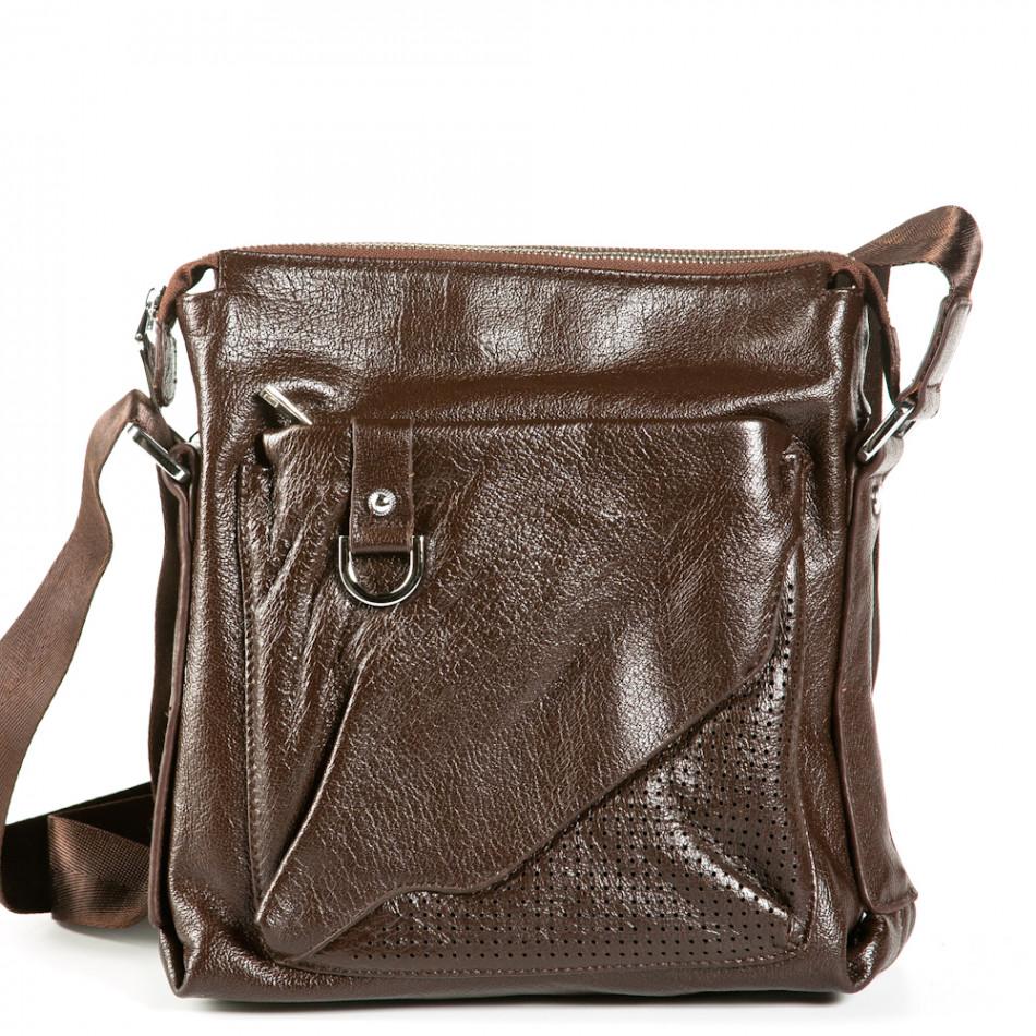 Geanta de umar Fashionmix maro bărbați 9077-1-brown