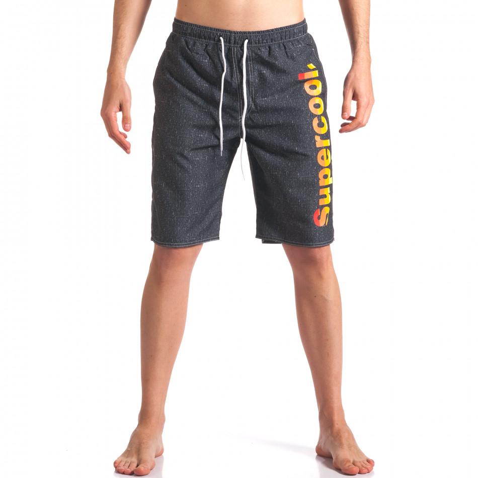 Costume de baie bărbați Austar Jeans gri it250416-45