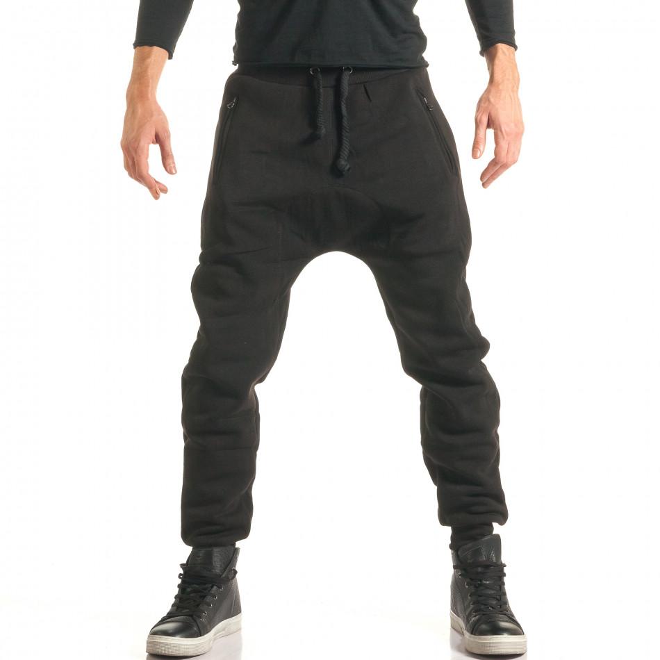 Pantaloni baggy bărbați Ross Kemp negri it181116-50