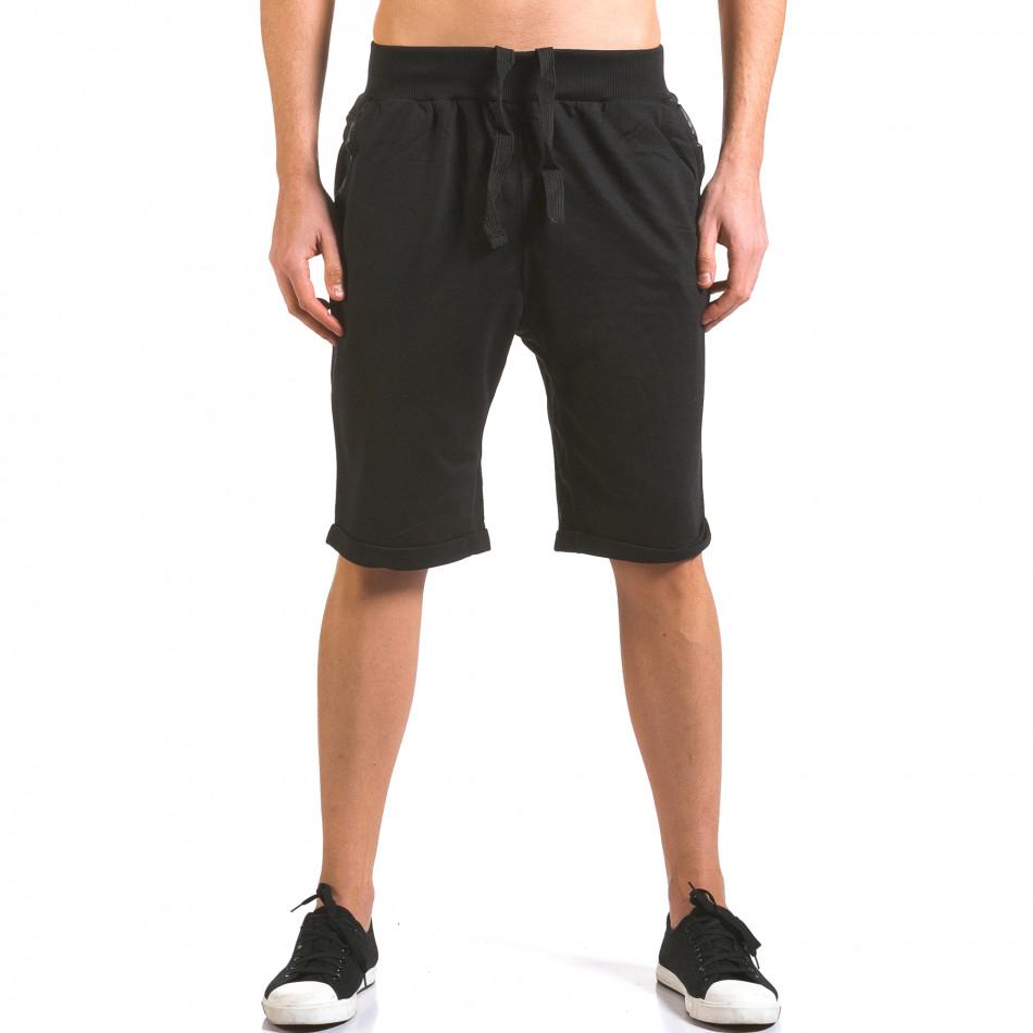 Pantaloni scurți bărbați Dress&GO negri it160316-22