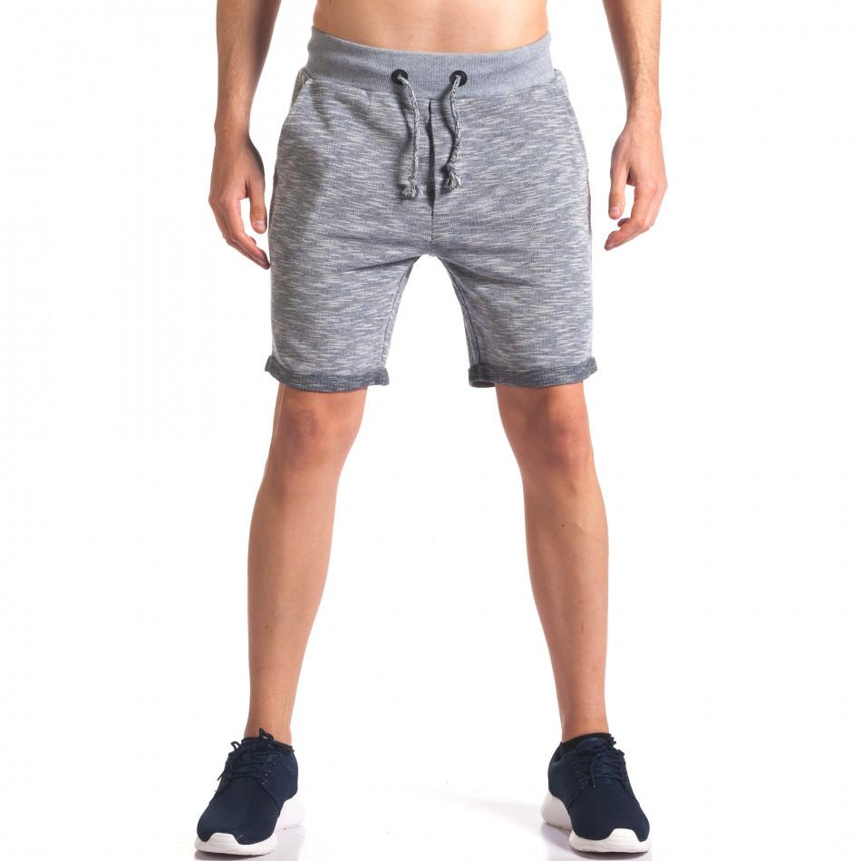 Pantaloni scurți bărbați New Brams albaștri it250416-10