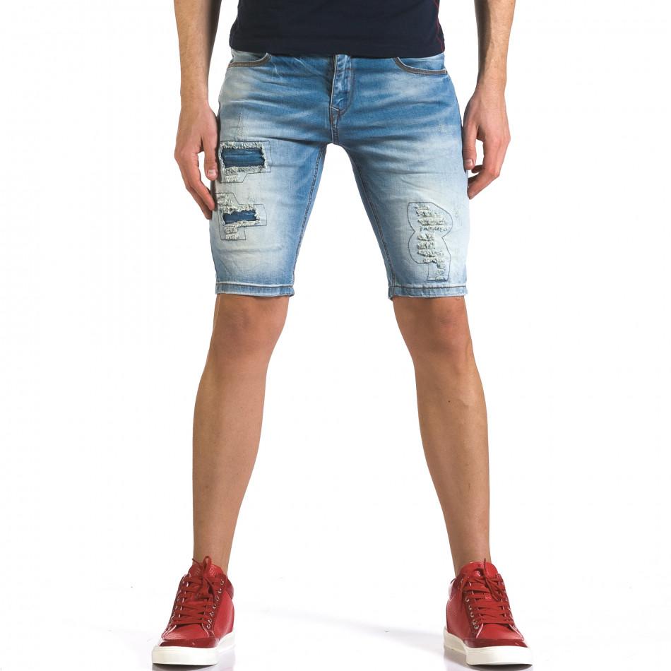 Blugi scurți bărbați Flex Style albaștri it110316-63