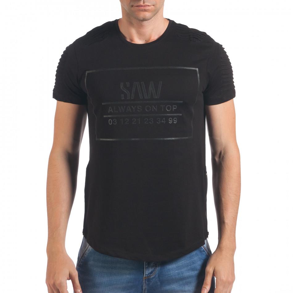 Tricou bărbați SAW negru il060616-23