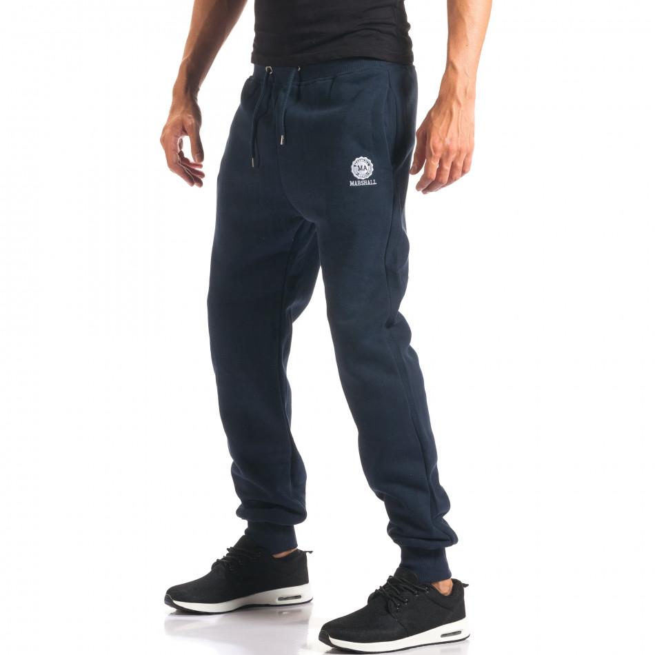 Pantaloni sport bărbați Marshall albastru it160816-17