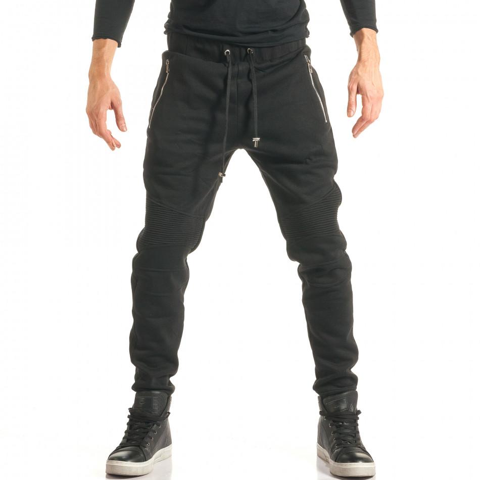 Pantaloni baggy bărbați Furia Rossa negri it181116-17